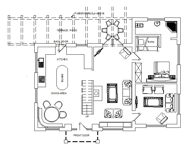 Mutton Barn Ground Floor Plan Holiday cottage warwickshire